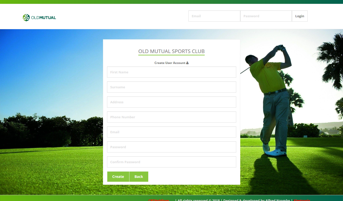 Old Mutual Sports Club project website